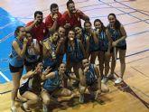 Las féminas del Club Voleibol Al-kazar se hacen con el bronce en el Campeonato de España