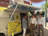 Hoy hemos contado en Alcantarilla con el servicio del INFOmóvil del Instituto de Fomento de la Región de Murcia