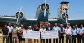 Un nuevo baño de solidaridad en la Base Aérea de Alcantarilla