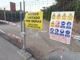 Las obras de rehabilitación del Camino del Cementerio se prolongarán durante varios días, obligando a cortar al tráfico de dicha infraestructura