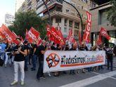 CCOO considera un éxito rotundo la huelga de Caixabank en la Región de Murcia
