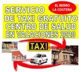 El Berro y La Costera cuentan con un servicio de taxi gratuito al centro de salud de Alhama este verano