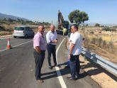 Mejoran el drenaje de la carretera regional que une las pedanías murcianas de El Palmar y Sangonera La Verde