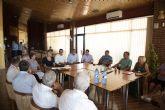 Ayuntamiento, Delegación del Gobierno y CHS transmiten a los vecinos de Camposol las novedades sobre el encauzamiento de la rambla