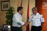 El Alcalde, Joaquín Buendía, recibe a nuevo Inspector Jefe de la Comisaría del Cuerpo Nacional de Policía en Alcantarilla
