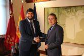 El presidente Fernando López Miras se reúne con el alcalde de Fortuna, José Enrique Gil