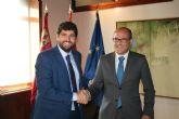 El presidente Fernando López Miras se reúne con el alcalde de Aledo, Juan José Andreo