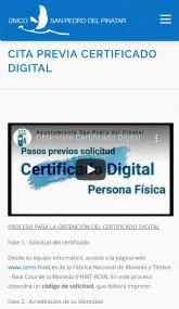 Ya se puede obtener el Certificado Digital en el Ayuntamiento de San Pedro del Pinatar