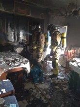 Herido en el incendio de una vivienda de Molina de Segura
