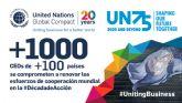 Líderes empresariales de más de 100 países se comprometen a apoyar el multilateralismo en el marco del 75 aniversario de la ONU