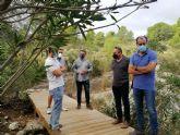 La Comunidad acondiciona el sendero del Canón de Almadenes para mejorar la seguridad de los visitantes y la protección de la naturaleza