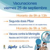 Centro Comercial Águilas Plaza acogerá el viernes una nueva jornada de vacunaciones masivas contra la COVID 19 y contra la meningitis