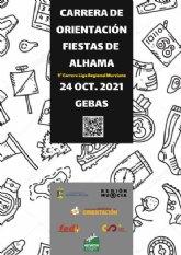 La Carrera de Orientación Fiestas de Alhama congrega a casi 300 participantes este domingo en Gebas