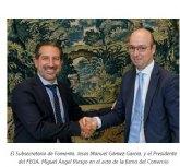 Firma del convenio entre el IGN y el FEGA que refuerza la colaboración en el Plan Nacional de Ortofotografía Aérea