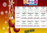 Nuevos horarios de la Biblioteca Municipal y la Sala Escolar con motivo de las fiestas de Navidad y Reyes