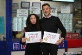 El 22.253, el último quinto premio de la Lotería de Navidad, repartido en 12 administraciones de la Región