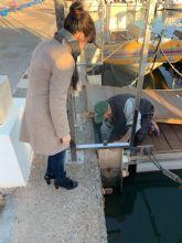 Reparan los daños del temporal de viento en el puerto de Cabo de Palos