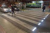 Más seguridad en Cartagena con tres pasos de peatones luminosos para evitar accidentes