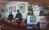 El presidente de la CHS ha mantenido un reuni�n de trabajo telem�tica con la Alcaldesa de Alhama
