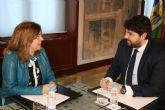 El presidente Fernando López Miras recibe a la alcaldesa de San Pedro del Pinatar