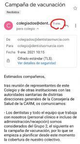 El PSOE se pregunta si es prioritaria la vacunación de la alcaldesa de Archena