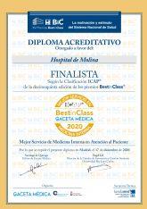 El Servicio de Medicina Interna del Hospital de Molina, entre los mejores de España