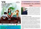 Las VII jornadas ´Una educación para el siglo XXI´ tratarán el medio ambiente a través de una conferencia online