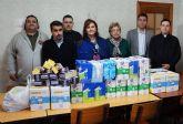 La Hermandad de la Legión Española de la Región de Murcia dona cerca de 300 kilos de alimentos a la Parroquia y Cáritas