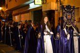 Mantillas negras en la procesión de Las Promesas de San Pedro del Pinatar
