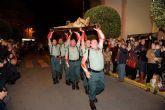 Multitudinaria procesión de los legionarios con el Cristo del Perdón