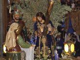 El Jueves Santo, procesión de Nuestro Padre Jesús Nazareno, con el encuentro final