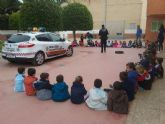 Policia Local de Cartagena visita a los mas pequeños del colegio Salesianos