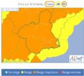 Protección Civil Totana alerta de aviso naranja en la Región de Murcia por viento