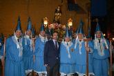 El consejero de Presidencia asiste a la salida de la procesión del Cristo del Amparo