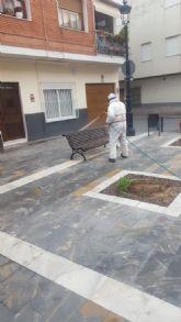 El Ayuntamiento de Archena continúa intensificando los trabajos de limpieza y desinfección de todo el municipio