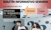 El Servicio de Garantía Juvenil distribuirá semanalmente un boletín informativo sobre Empleo y Formación