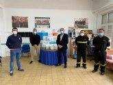 La Hdad. de Nuestro Padre Jesús entregan a Protección Civil 550 mascarillas profesionales y más de 140 litros de gel hidroalcohólico para su reparto