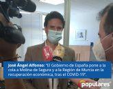 José Ángel Alfonso 'El Gobierno de España pone a la cola a Molina de Segura y a la Región de Murcia en la recuperación económica, tras el COVID-19'
