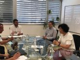 Ayuntamiento y regantes de Puerto Lumbreras solicitan al consejero de Agua y Agricultura mejoras para el municipio