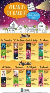 La concejalía de festejos presenta su programación de actividades 'veranos de barrio'
