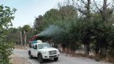 La Comunidad aplica un tratamiento para combatir la plaga de galeruca en la olmera de Cieza