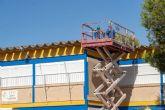 Comienzan los trabajos de retirada de fibrocemento en el CEIP Santa Florentina de La Palma