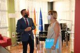 Antonio Sánchez Lorente se reúne con la presidenta de Unicef en la Región de Murcia