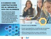 La Comunidad destina 419.000 euros para nueve cursos en los que podr�n ser contratados el 40 por ciento de participantes