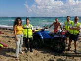 Las asistencias de salvamento y rescate en playas de la Región se reducen un 14 por ciento este verano