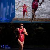 Sergio Baxter y Natalia Hidalgo, en el Campeonato del Mundo de Triatlón Sub23