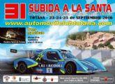 La XXXI Subida a La Santa, gran cita automovil�stica para este fin de semana, puntuable para el Campeonato de Murcia�2016 y el I Open de Levante de Montaña