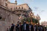 Solemne procesión de Nuestra Senora de los Dolores, titular de la Cofradía de Nuestra Senora de los Dolores de Murcia (Dolorosa de San Lorenzo)