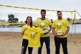 La primera liga regional de voley playa comienza en Mazarrón