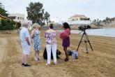 La TV brit�nica Chanel 4 rueda en la bah�a de Mazarr�n